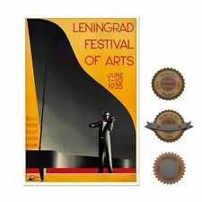 "13""×19"" Decorative Art Poster: Classical Music Festival w/ Violin & Piano Ballet"