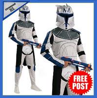 Mens Star Wars Captain Rex Clone Trooper Costume Deluxe Adult Book Week + Helmet