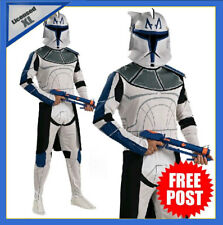 Mens Star Wars Captain Rex Clone Trooper Costume Deluxe Adult Book Week + Helmet