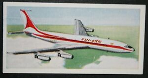 AIR INDIA  Boeing 707    Vintage Illustrated Card  ## VGC
