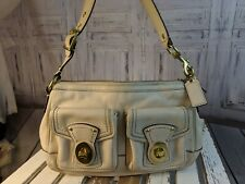 VTG vintage Coach handbag purse bag tote casual shoulder white