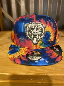 2020 Chicago Bears NFL Crucial Catch YOUTH New Era Hat Cap Tie Dye Snapback RARE