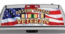 Truck Rear Window Decal Graphic [Desert Storm Veteran] 20x65in DC06204