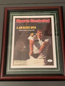 Jimmy Connors Autographed 1976 Sports Illustrated Custom Framed JSA COA