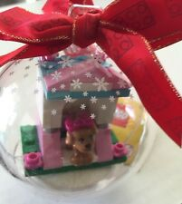 *NEW* Lego FRIENDS DARK ORANGE Puppy DOG & DOG HOUSE Hanging CHRISTMAS ORNAMENT