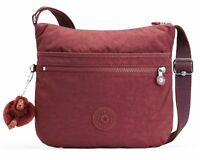 kipling Basic Eyes Wide Open Arto Shoulderbag Tasche Burnt Carmine C Rot Neu