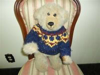 Vintage Handmade Artist One of a Kind Bear Long Snout Jointed Heavy 16 Inch