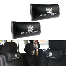 2x Universal VIP Style Car Neck Pillow Headrest Neck Rest Support Cushion New