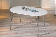 ESSTISCH Platte weiß lackiert, ausziehbar, Gestell verchromt 140/180 x 90 cm NEU