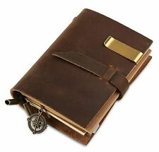 Genuine Leather Notebook Diary Journal Handmade Vintage Blank Refillable Pages