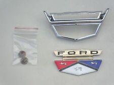 1959  59  FORD FAIRLANE  500  CHROME HOOD EMBLEM BEZEL & CREST  NEW