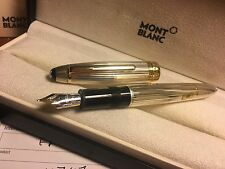 NEW FOUNTAIN PEN MONTBLANC Meisterstuck Gold SOLITAIRE STERLING SILVER 146 11747