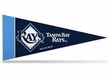 """New MLB Tampa Bay Rays Mini Pennant  9""""x4"""" Made in USA Flag Banner"""
