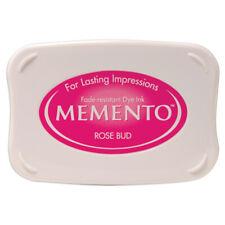Tsukineko Memento Dye Ink Pad Fade Resistant Stamping Pad - Rose Bud Pink