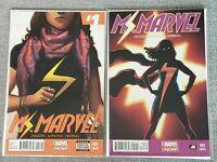 Ms. Marvel 1 6th printing & 2 4th printing 2014 Kamala Khan - Pichelli