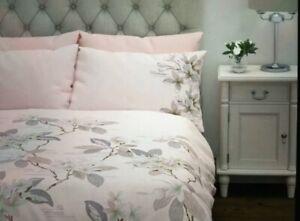 NEW Laura Ashley Grandi Flora Pale Blush SuperKing Size Duvet Cover & 2 P/Case
