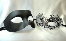 Black White Couple Masquerade Mask pair Costume School Birthday Wedding Party