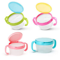 PORTABLE KID SNACK CUP INFANT SNACK SNACKER BOWL CONTAINER WITH COVER HANDLE