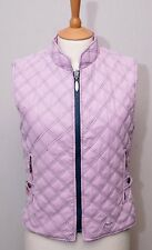 Joules women's lightweight pink quilt padded gilet bodywarmer waistcoat small
