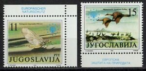 Yugoslavia 1991 Sc#2112/13 - European Nature Protection Set of 2 Stamps Mint MNH