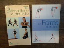 Lot de 2 livres : La gymnastique à domicile +  La forme à la carte