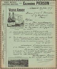 Y9594 Gazogéne PIERSON - Veuve Amiot - Pubblicità d'epoca - 1909 Old advertising
