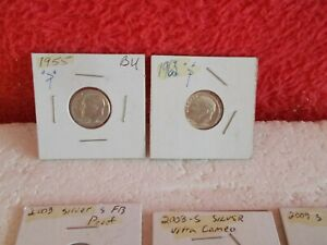LOT OF FIVE COUNT (5) U.S. SILVER DIMES, ASSORTED DATES & MINTS ............