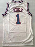 Space Jam 1 Bugs Bunny Tune Squad White Stitched Basketball Jersey-4dayship