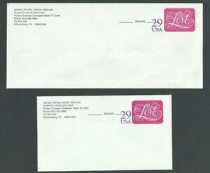 1988 U621 Love Pre-Printed Love Samples For P O Use & P O Letter Mint