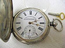 Antique Original Silver Pocket COURVOISIER FRERES Pocket Watch Key Winding