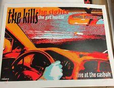 The Kills Sights Get Hustle screened Rock Poster Gig San Diego Lindsey Kuhn