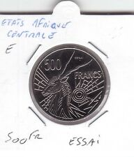 """ESSAI 500 FRANCS ETATS AFRIQUE CENTRALE LETTRE """"E"""""""