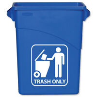 TRASH ONLY Vinyl Decal Sticker Recycle Recycling Garbage Bin PICK SIZE & COLOR
