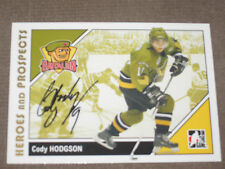 CODY HODGSON AUTOGRAPHED 2007-2008 ITG HEROES AND PROSPECTS CARD