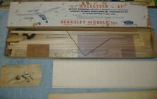 "1946 Berkeley - The Musketeer 42"" Balsa Plane for Gas Powered .15 to .19 Engines"
