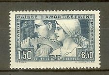 "FRANCE STAMP TIMBRE N° 252b "" C.A. LE TRAVAIL 1928 ETAT III "" NEUF xx SUP"