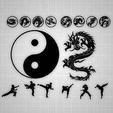 Taekwondo Yin Yang, Martial Arts Dragon, Taekwondo Kung fu vinyl 15Pcs