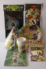 BEN 10 PARTY SUPPLIES BIRTHDAY PARTY PACK  63 PIECES! AMAZING VALUE!