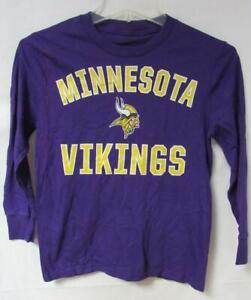 Minnesota Vikings Youth Size Small Long Sleeve T-Shirt A1 2829