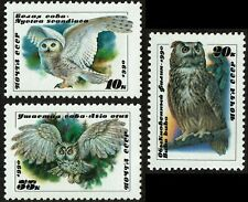 HuskyStamps ~ Russia #5871-5873, set of 3, Mint Never Hinged MNH, VF, Owls 3pics
