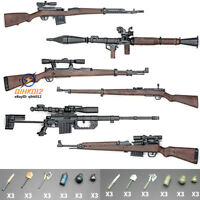 RPG KAR 98K 6PCS/Set 1/6 Action Figure Rifle Assembly PUBG Gun Weapon Model Toy