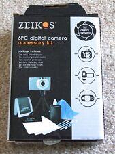 Zeikos 6 pack digital camera smart phone mini tripod accessory cleaning kit