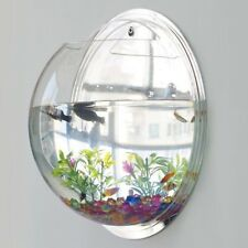 Wall Mounted Hanging Fish Bowl Aquarium Tank Beta Goldfish Plant Home Art Decor