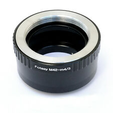 M42 42mm Screw Lens to Micro 4/3 m43 Adapter Olympus E-M1 E-M5 E-M10 E-PP2 E-PM1