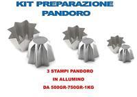 KIT PREPARAZIONE PANDORO NATALE 1 STAMPO 1 KG,1 STAMPO 750 GR ,1 STAMPO DA 500