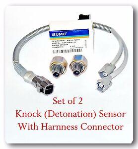 2 Knock Sensor W Harness Kit Set For Camry Avalon Sienna Solara Highlander Lexus