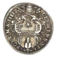 STATO PONTIFICIO - Clemente XI - Moneta da un Giulio in argento anno IIII 1704