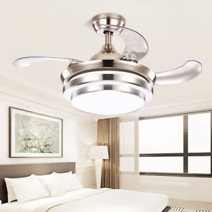 42 Inch Ceiling Fan with LED Light 3 Speed Level with Remote Control Living Room