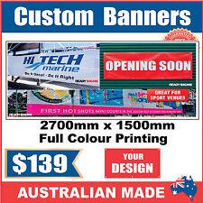 Custom Outdoor Vinyl Banner Sign - 2700mm x 1500mm - Australian Made
