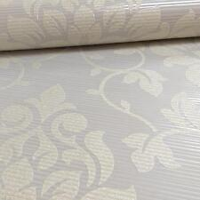 Grandeco Elite Floral Damask Pattern Glitter Motif Embossed Wallpaper Roll Taupe